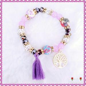 Jewelry - ⬇️$30 Tree of Life Bracelet Beads Purple Tassel